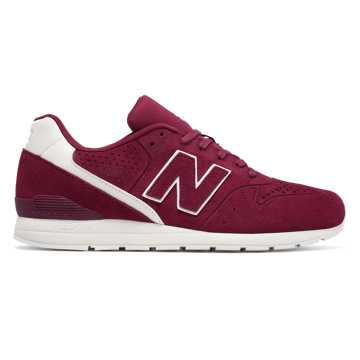New Balance 696 Re-Engineered, Burgundy with White