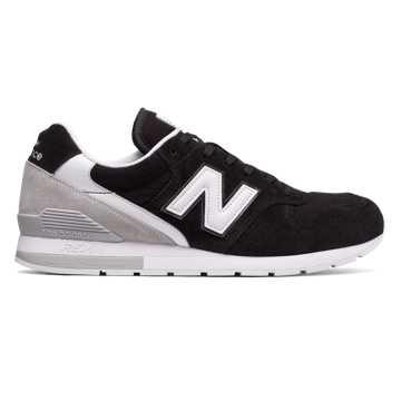 New Balance 996复古鞋 中性款 轻量舒适 经典休闲, 黑色
