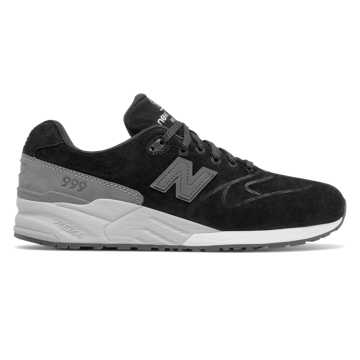 New Balance 999 Re-Engineered Suede, Black with Grey