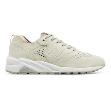 New Balance 580 Re-Engineered, White with Rose