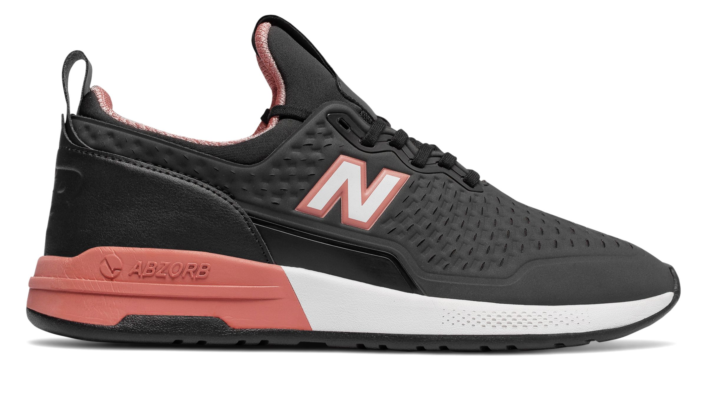 New Balance 365, Black with Dusty Coral