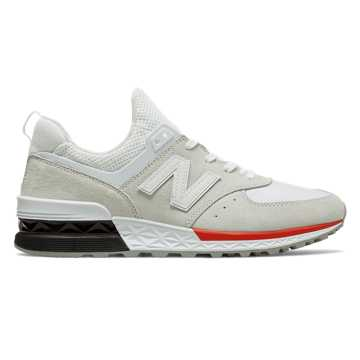 New Balance 574 Sport, Silver with White