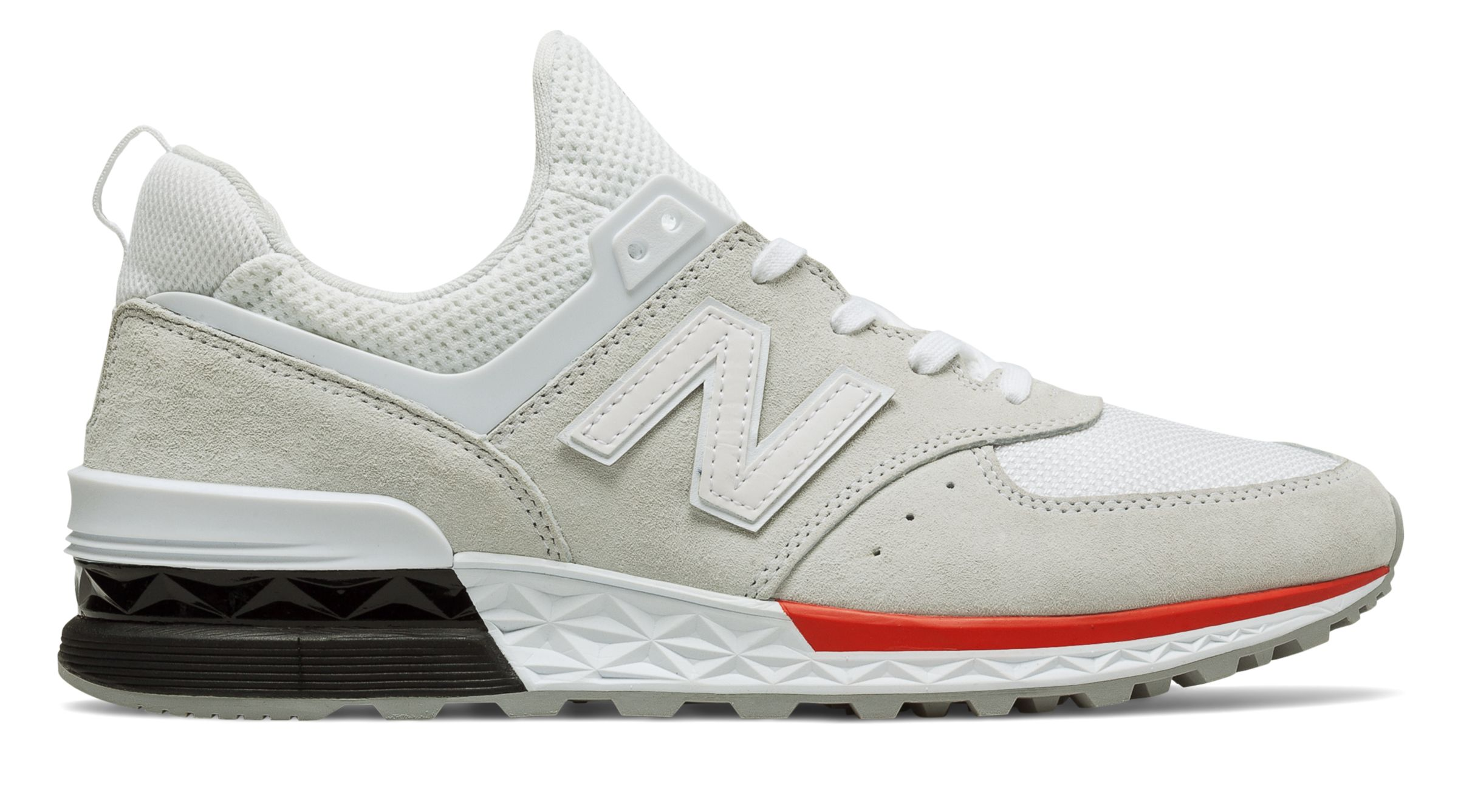 NB 574 Sport, Silver with White