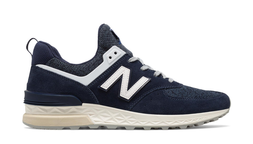 Men New Balance 574 Sport Trainers Navy