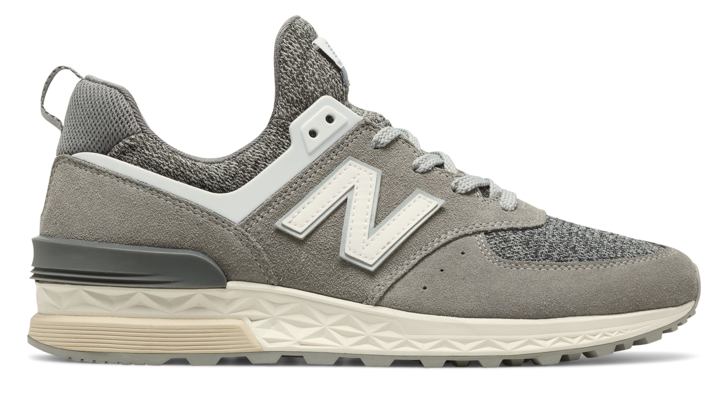 NB 574 Sport, Grey with White