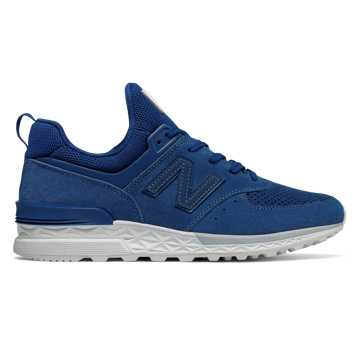 New Balance 574 Sport, Atlantic with White