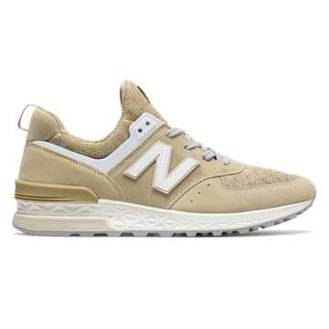 New Balance 574 Sport, Beige with White