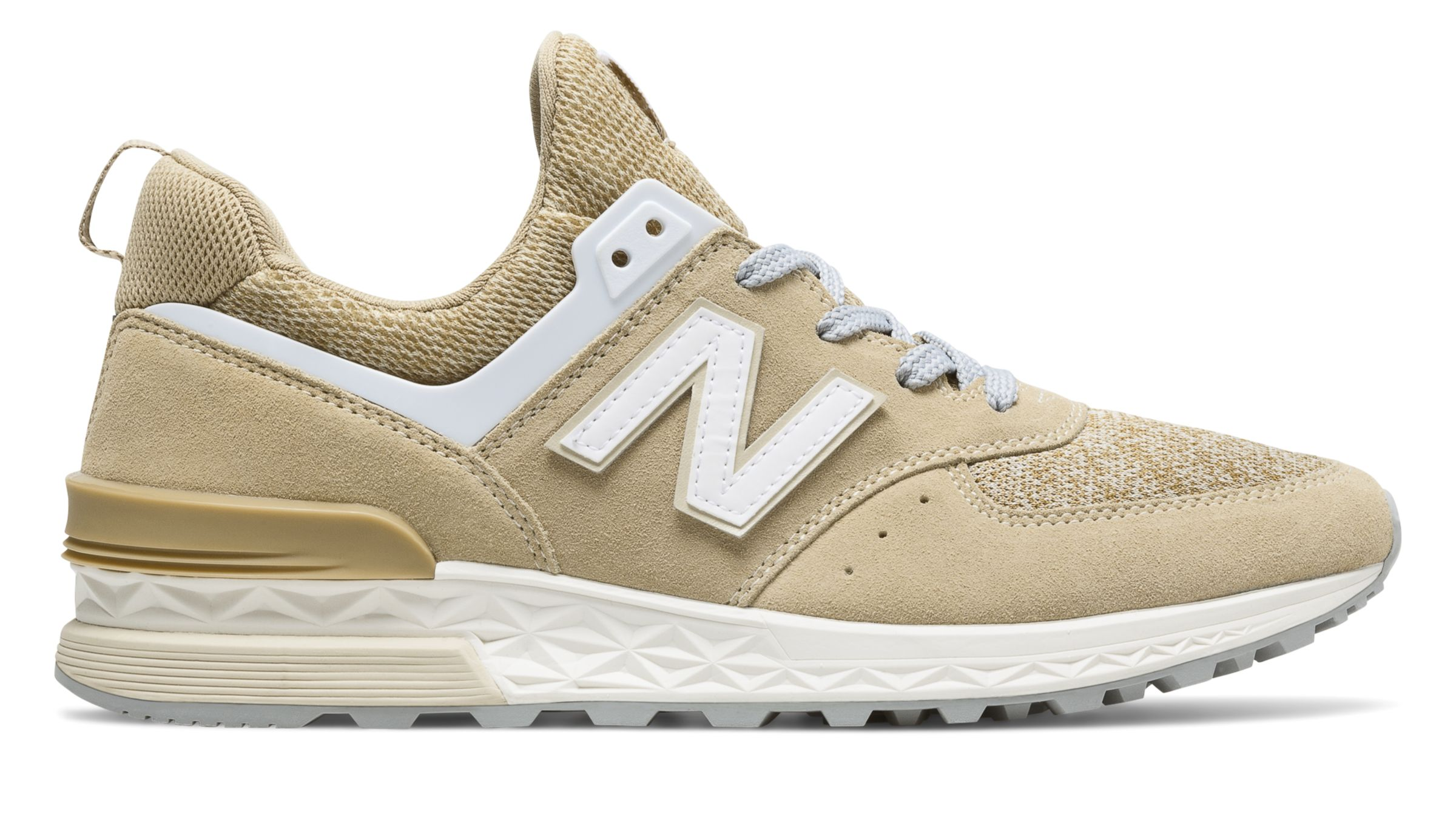 NB 574 Sport, Beige with White