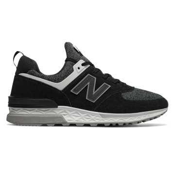 New Balance 574 Sport, Black with White