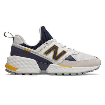 New Balance 574S V2系列男款复古休闲运动鞋    , 白色/米色/藏青色