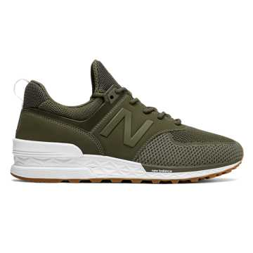New Balance 574 Sport, Triumph Green with Covert