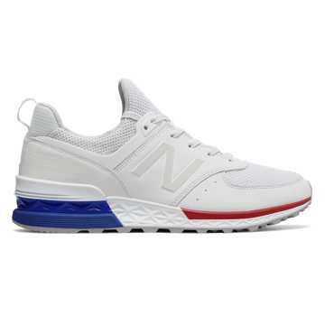 new balance blue. new balance 574 sport, white with blue b