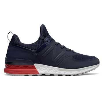 New Balance 574 Sport, Navy with Red