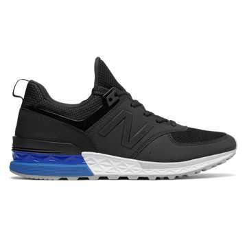 New Balance 574 Sport, Black with Blue