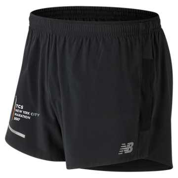 New Balance NYC Marathon Impact 3 Inch Split Short, Black Multi