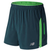 New Balance Impact 5 Inch Track Short, Supercell with Vivid Cactus