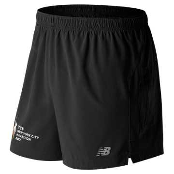 New Balance NYC Marathon Impact 5 Inch Track Short, Black Multi