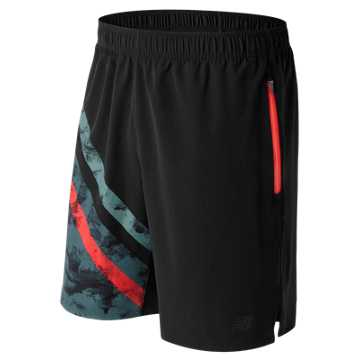 New Balance Max Intensity Short, Black with Alpha Orange