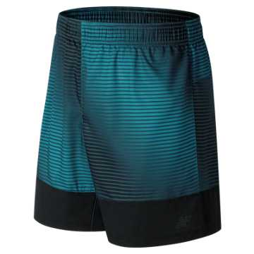 New Balance Hybrid Tech Short, Deep Ozone Blue Print with Black