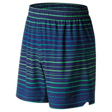 New Balance Printed Shift Short, Deep Ozone Blue with Supercell & Vivid Cactus