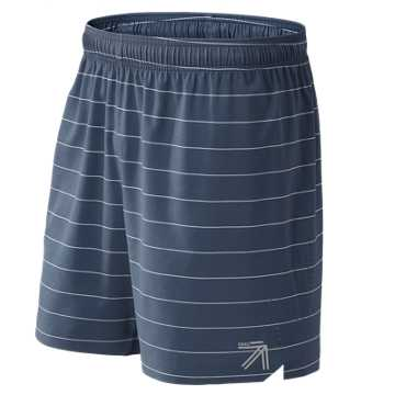New Balance J.Crew Printed 7 Inch Shift Short, Navy Stanley Stripe