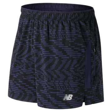 New Balance Impact 5 Inch Printed Track Short, Speed Glitch with Pigment
