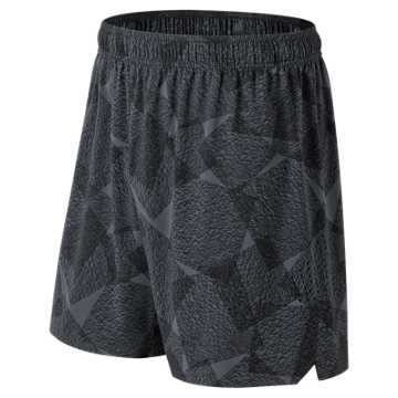 New Balance Graphic Shift Short, Black Multi
