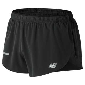 New Balance Impact Split 3 Inch Short, Black