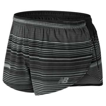 New Balance Printed Impact Split 3 Inch Short, Black