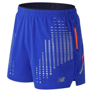 New Balance Reflective Impact 5 Inch Short, Pacific
