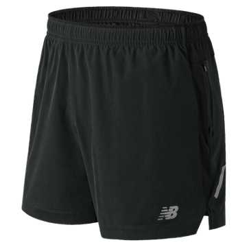 New Balance Impact 5 Inch Short, Black Multi