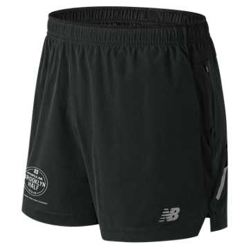 New Balance Brooklyn Half Impact 5 Inch Short, Black