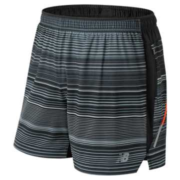 New Balance Printed Impact 5 Inch Short, Black