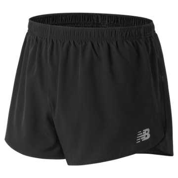 New Balance Accelerate 3 Inch Split Short, Black