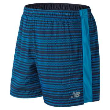 New Balance Accelerate Graphic 5 Inch Short, Maldives Blue