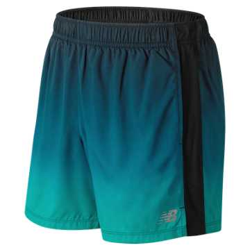 New Balance Accelerate Graphic 5 Inch Short, Tidepool