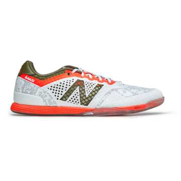 New Balance Audazo Pro IN, White with Alpha Orange