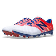 New Balance Furon Pro FG, White with Flame & Bolt