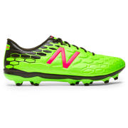 NB Visaro 2.0 Mid Level FG, Energy Lime with Military Dark Triumph & Alpha Pink