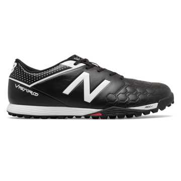 New Balance Visaro Leather TF, Black with White & Energy Lime