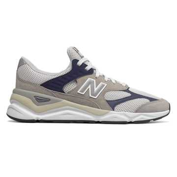 New Balance X90系列 中性款 潮流复古 穿着舒适, 灰色/藏青色