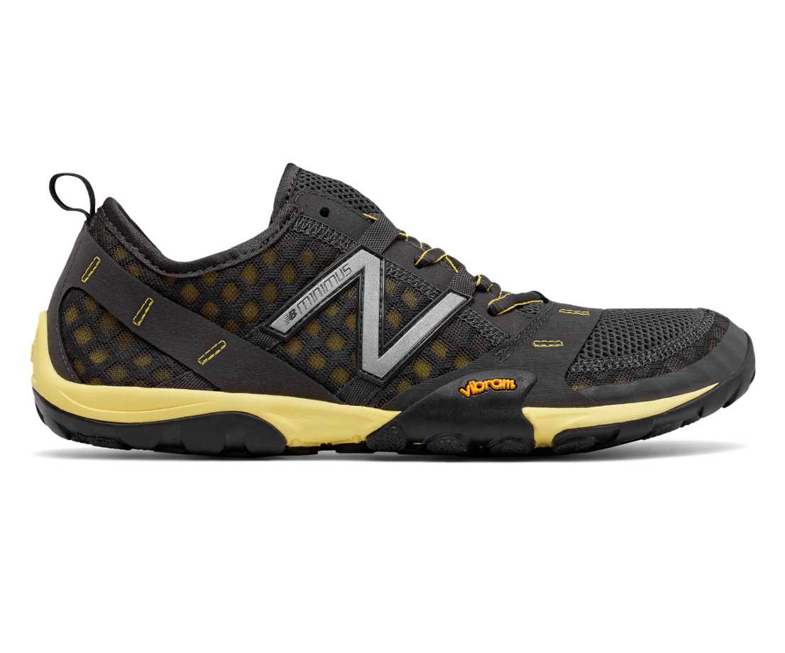 New Balance Minimus 10v1 Trail, Dark Grey with Yellow