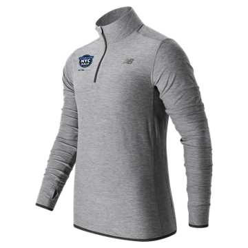 New Balance United Airlines NYC Half N Transit Quarter Zip, Athletic Grey