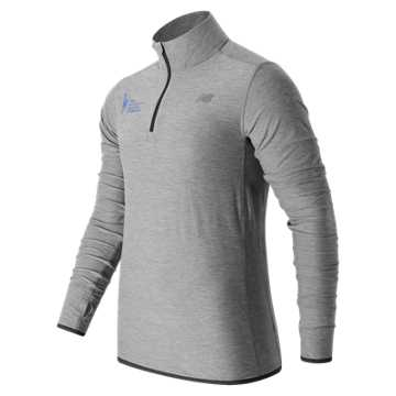 New Balance NYC Marathon Training N Transit Quarter Zip, Athletic Grey