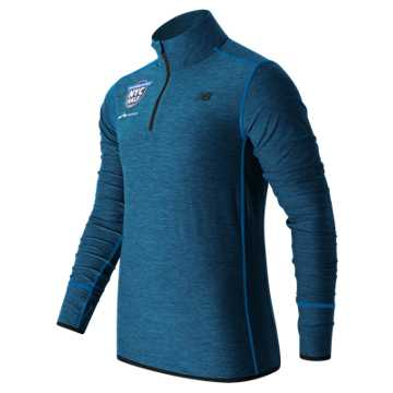 New Balance United NYC Half Quarter Zip, Electric Blue Heather