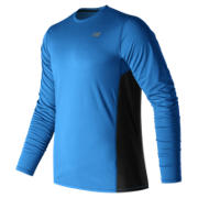 NB Accelerate Long Sleeve, Electric Blue with Black