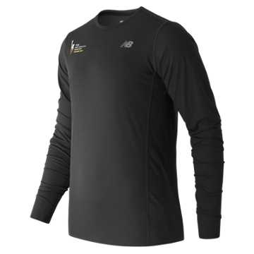 New Balance NYC Marathon Training LS Tee, Black