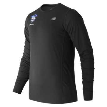 New Balance United NYC Half LS Tee, Black