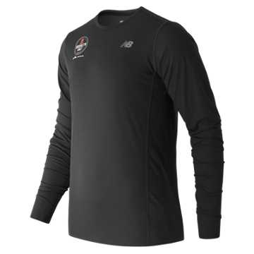New Balance Brooklyn Half Training LS Tee, Black with White