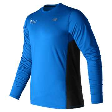 New Balance NYC Marathon Training LS Tee, Electric Blue